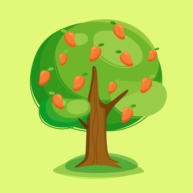 Mangoboom illustratie Gratis Vector