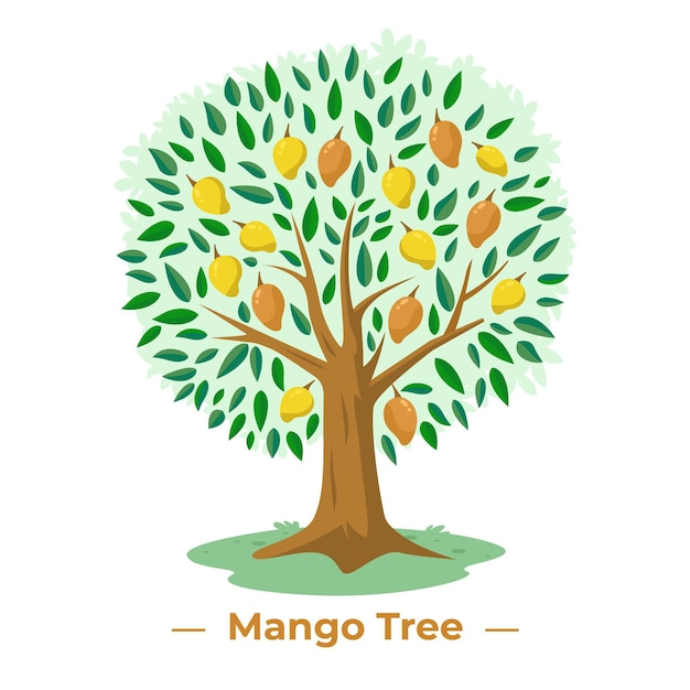 Mangoboom in plat design Gratis Vector