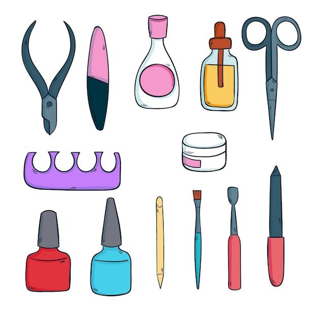 Manicure-instrumenten Gratis Vector