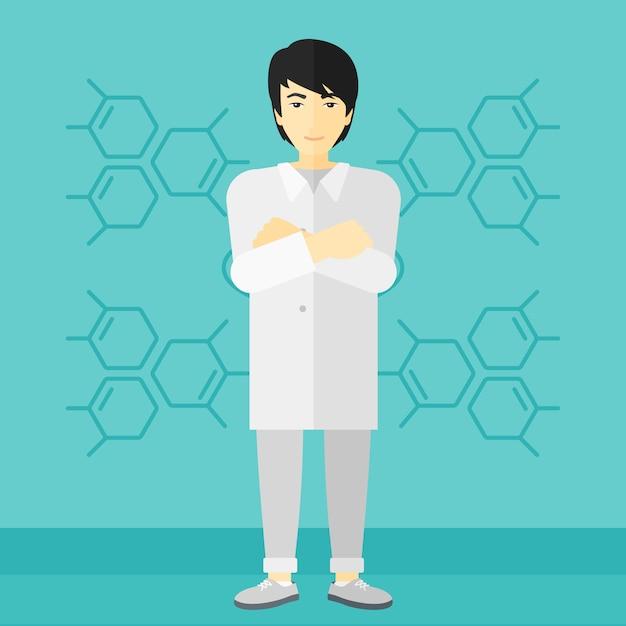 Mannelijke laboratoriumassistent Premium Vector