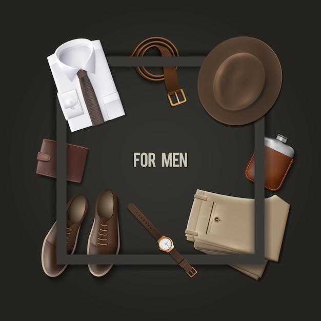 Mannen dragen mode-concept Gratis Vector