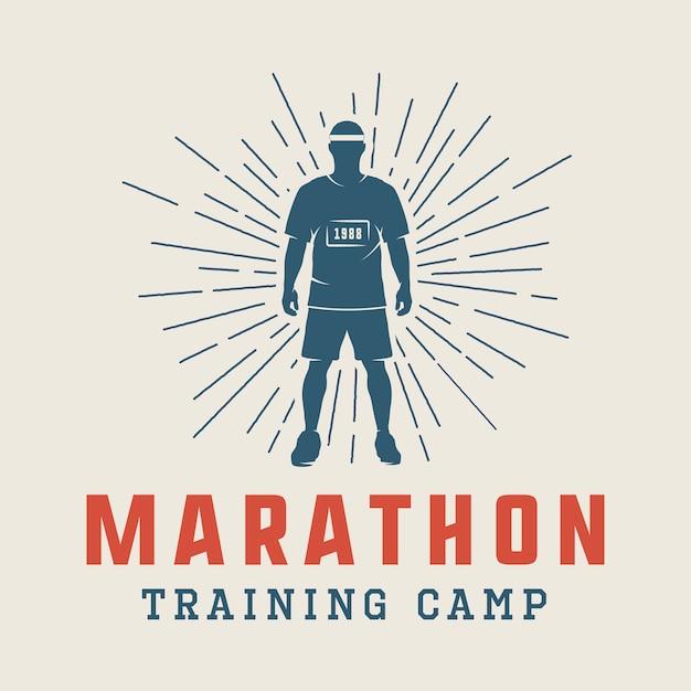 Marathon of run logo Premium Vector