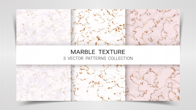 Marble premium set patterns collection template. Premium Vector