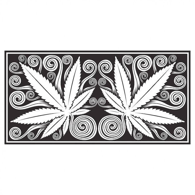 Marihuana cannabisbladeren Premium Vector