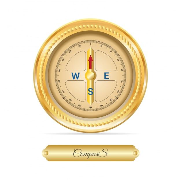 Marine kompas vector Premium Vector