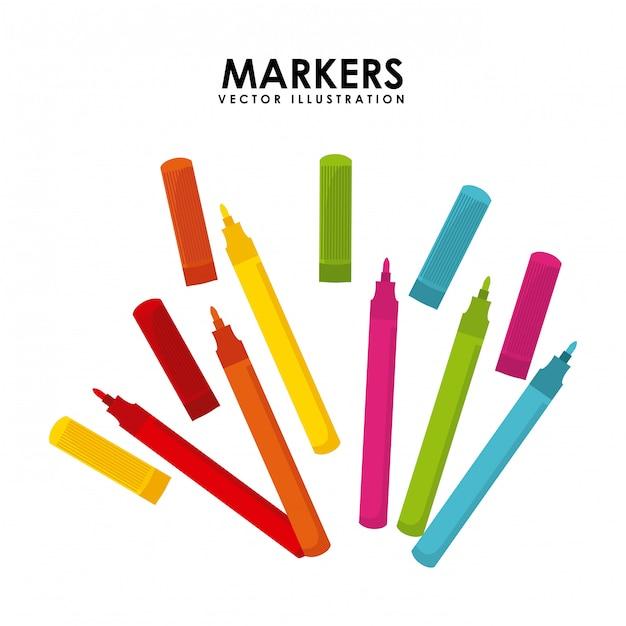 Markers ontwerp Premium Vector
