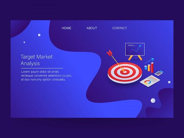 Marketing analyse Premium Vector