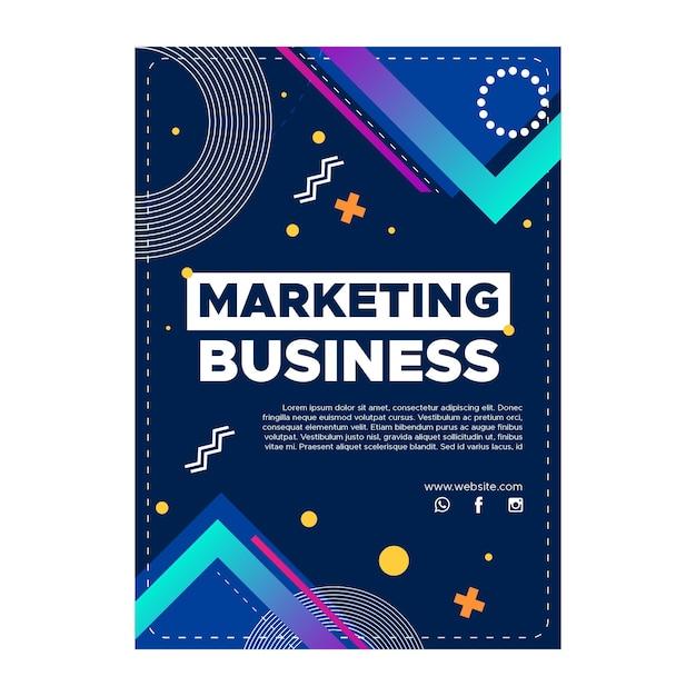 Marketing bedrijf verticale folder sjabloon Gratis Vector
