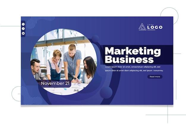 Marketing bedrijfsbanner Premium Vector