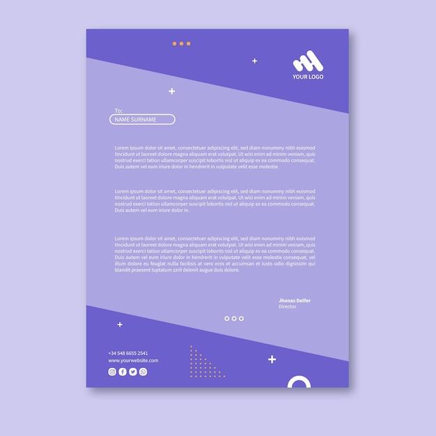 Marketing briefpapier Gratis Vector