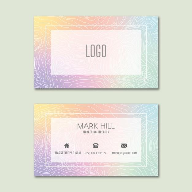 Marketing business dubbelzijdig visitekaartje Premium Vector