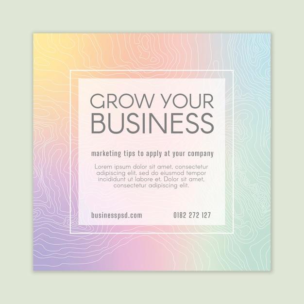 Marketing business flyer vierkant Gratis Vector