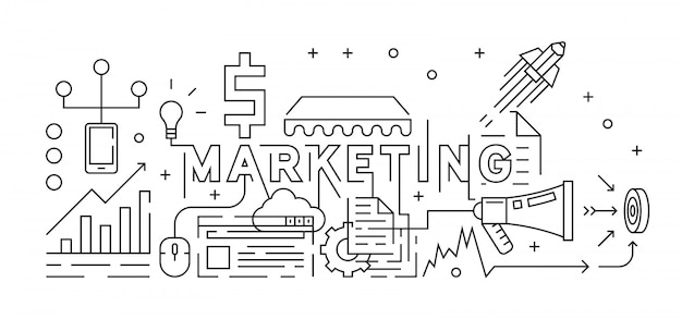 Marketing concept Premium Vector