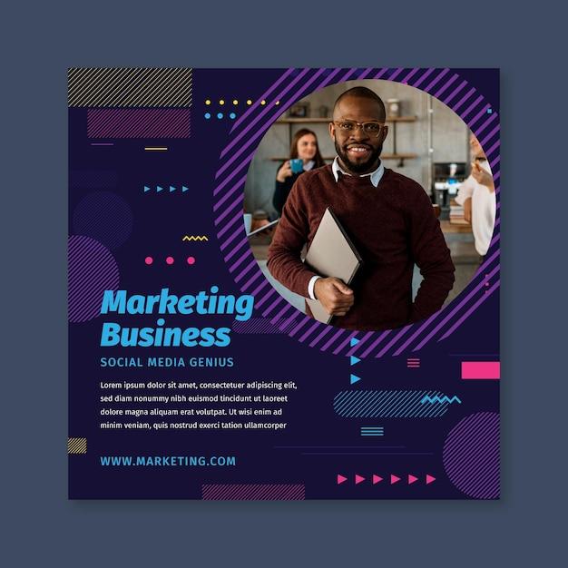 Marketing sjabloon folder Gratis Vector