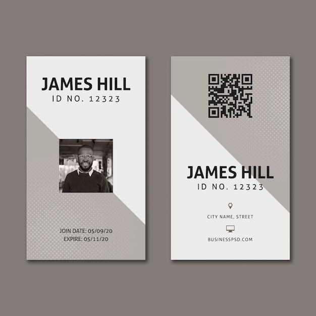 Marketing sjabloon voor visitekaartjes Gratis Vector