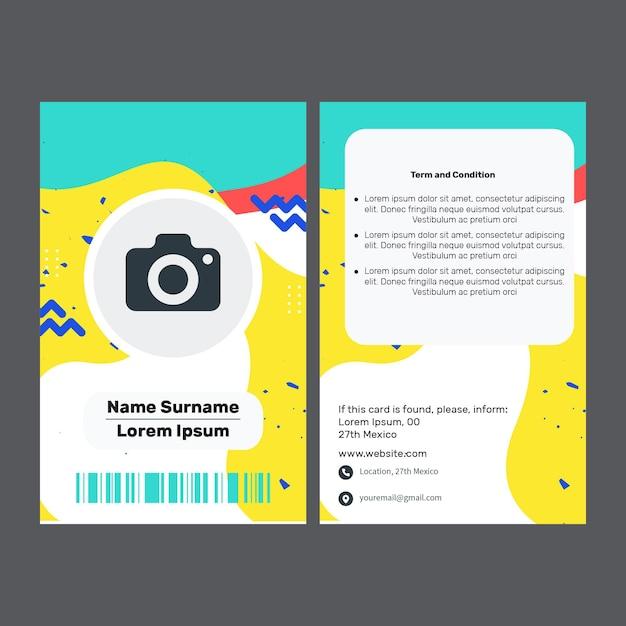 Marketing visitekaartje Premium Vector