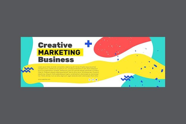 Marketing zakelijke banner Gratis Vector