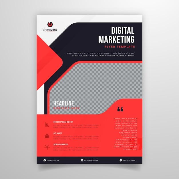 Marketing zakelijke flyer Gratis Vector