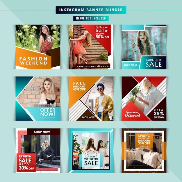 Marketing zakelijke instagram covers Premium Vector