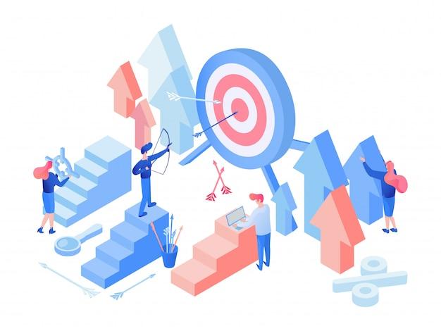 Marketingteam is isometrisch Premium Vector