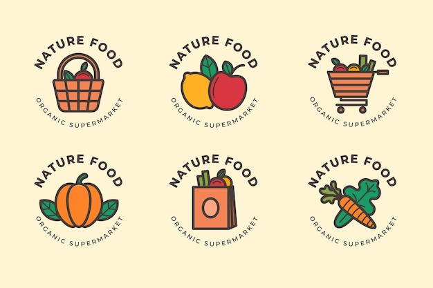 Markt logo-collectie Gratis Vector