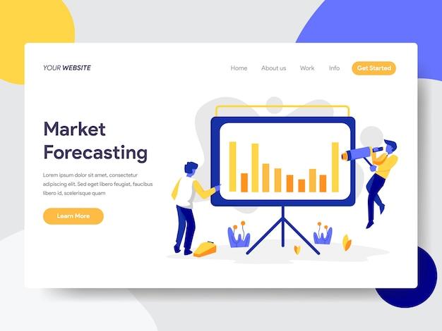 Marktvoorspelling illustratie Premium Vector