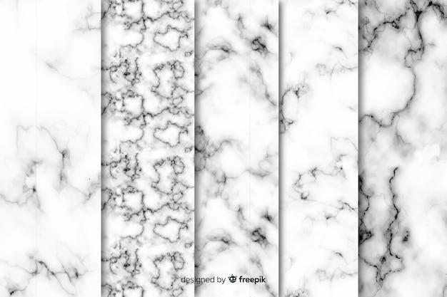 Marmeren achtergrondcollectie Gratis Vector