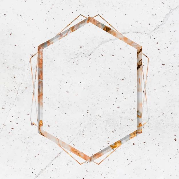 Marmeren frame ontwerpruimte Gratis Vector