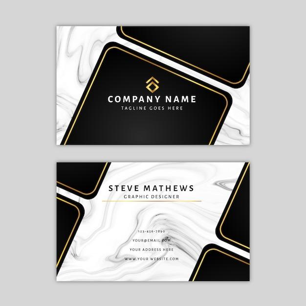 Marmeren sjabloon voor visitekaartjes Premium Vector