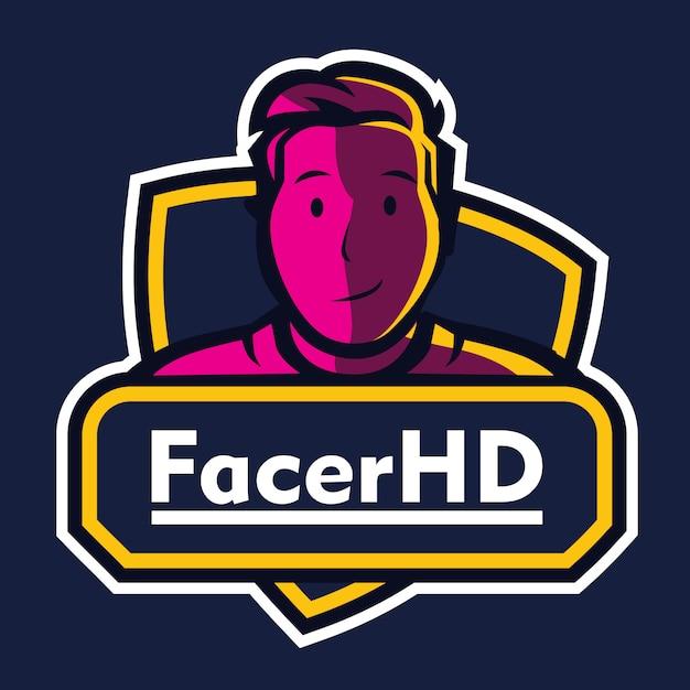 Mascotte gaming esport-logo Premium Vector