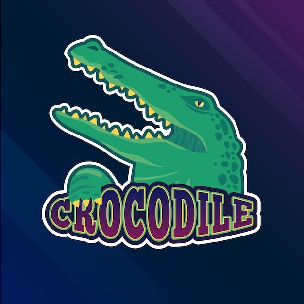 Mascotte logo met krokodil Gratis Vector