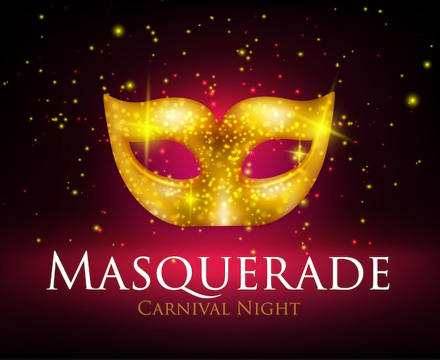 Maskerade masker achtergrond Gratis Vector