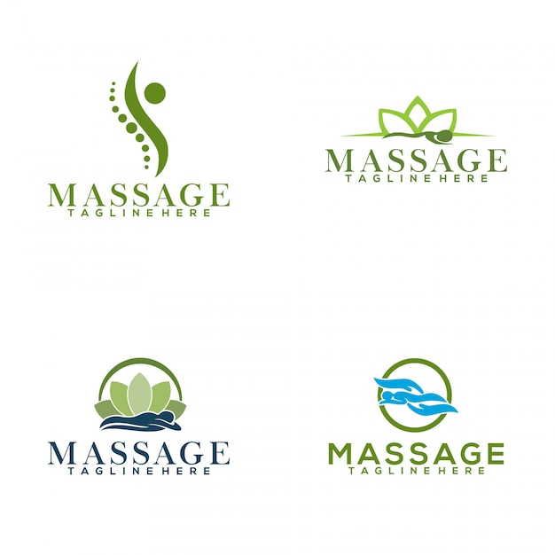 Massage-logo Premium Vector