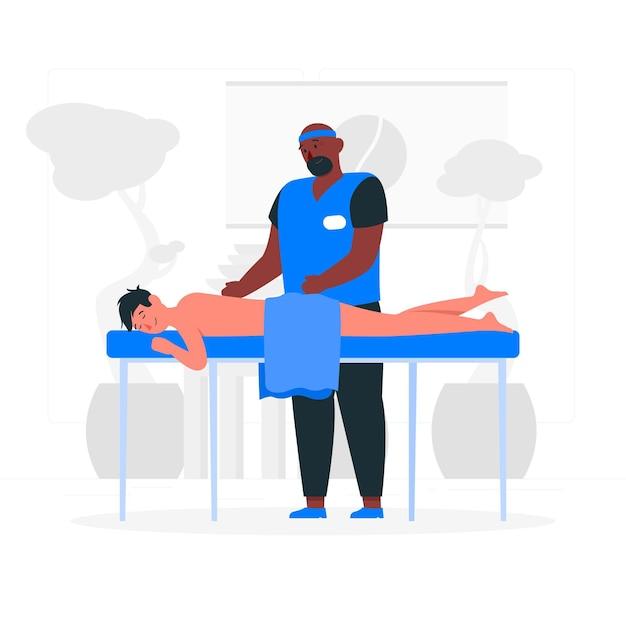 Massage therapeut concept illustratie Gratis Vector