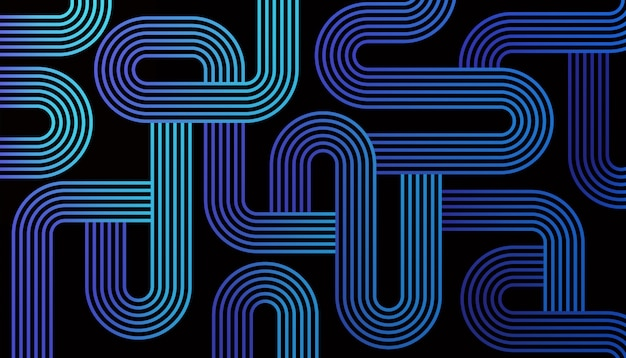 Maze lines abstract Gratis Vector