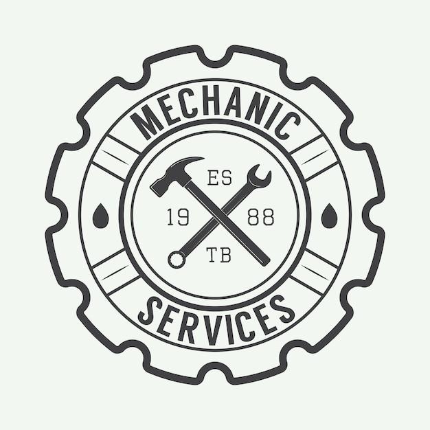 Mechanisch label Premium Vector