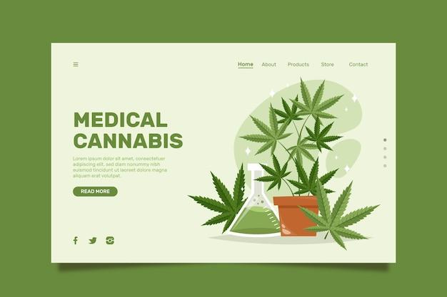 Medicinale cannabis - bestemmingspagina Premium Vector