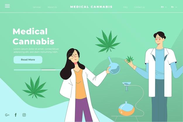 Medicinale cannabis - bestemmingspagina Gratis Vector