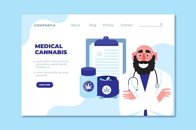 Medicinale cannabis en bestemmingspagina voor dokters Gratis Vector
