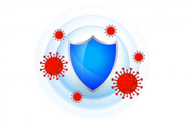 Medisch beschermingsschild met goed immuunsysteem Gratis Vector