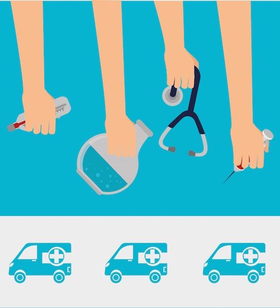 Medisch gezondheidszorg grafisch ontwerp Gratis Vector