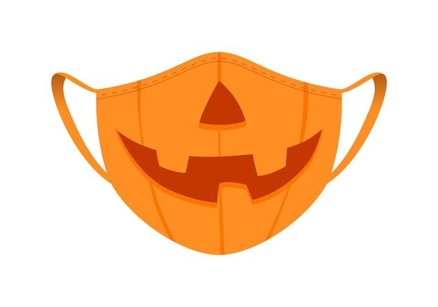 Medisch masker met grappig ontwerp Premium Vector