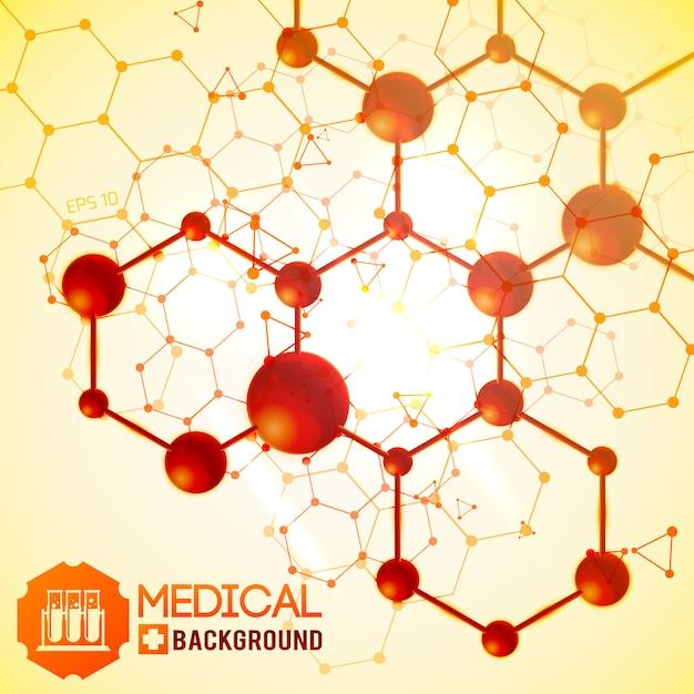 Medisch met biologie geneeskunde en wetenschap symbolen realistische afbeelding Gratis Vector