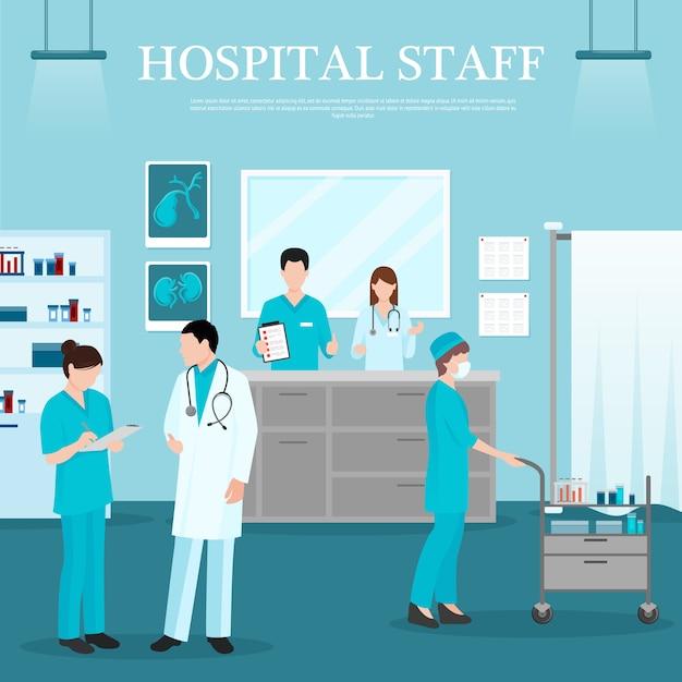 Medisch personeel sjabloon Gratis Vector