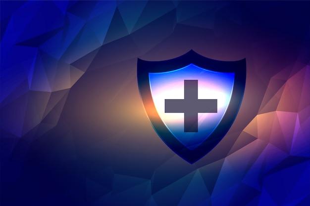 Medisch schild voor bescherming tegen ziektekiemen en virussen Gratis Vector
