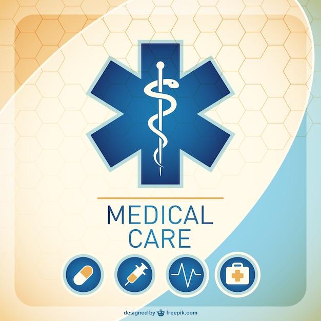 Medische achtergrond afbeelding Gratis Vector