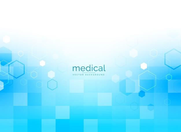 Medische achtergrond in heldere blauwe kleur Gratis Vector
