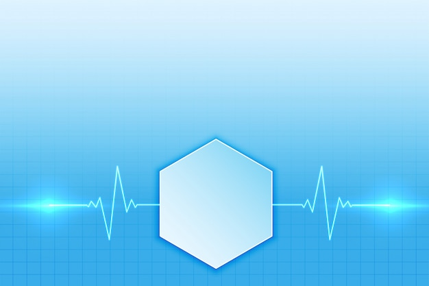 Medische achtergrond met het ontwerp van de hartslaglijn Gratis Vector
