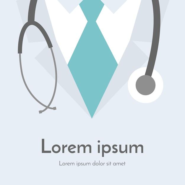 Medische achtergrond. online arts. Premium Vector
