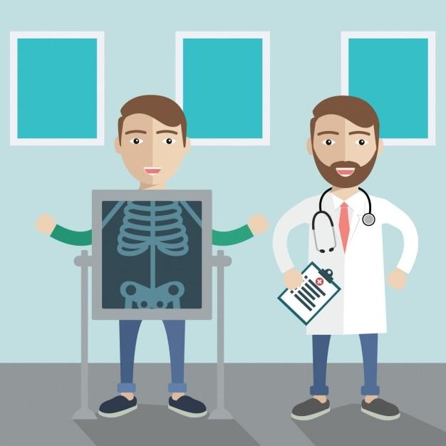 Medische achtergrond ontwerp Gratis Vector